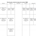 Conseils de classe du 1er trimestre 2015-16